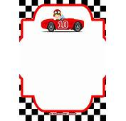 FREE Race Car Birthday Invitation Template – Printable