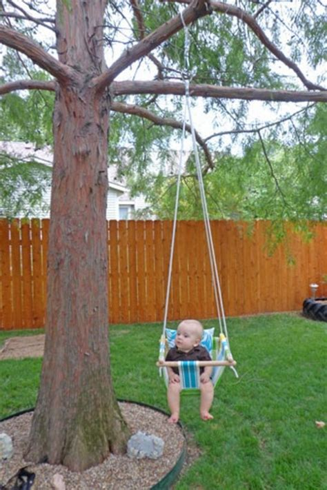 how to hang a baby swing without a tree diy tree swing for a baby kidsomania