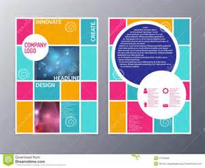 abstract colorful flyer design template vector a4 stock