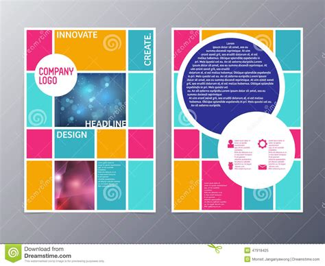 poster abstract layout abstract colorful flyer design template vector a4 stock