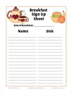 food day sign up sheet template breakfast search results made 2 b creative