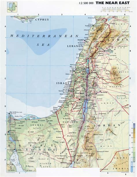 map of isreal maps of israel detailed map of israel in tourist map of israel road map of israel