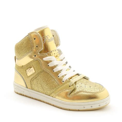 gold sequin high top sneakers glam pie glitter sneaker