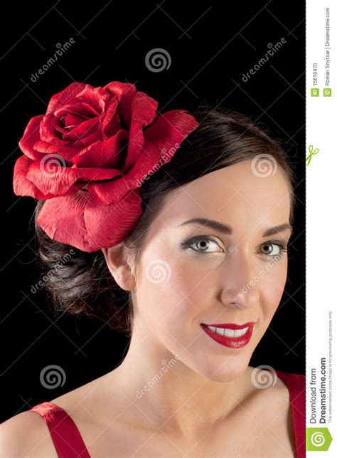 spanish dancer hairstyles portrait of a flamenco dancer in red stock photo image