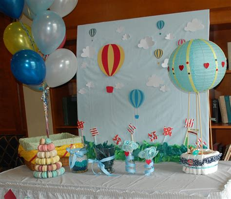 Air Balloon Themed Baby Shower by Tangled Threads By Jen Air Balloon Baby Shower