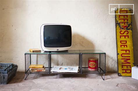 meuble tv ontario m 233 tal et verre pour un meuble tv pib