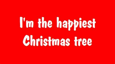 happiest christmas tree song with lyrics holiday