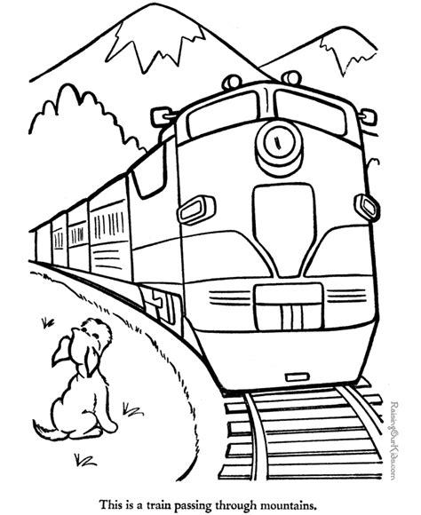free train coloring pages coloring home