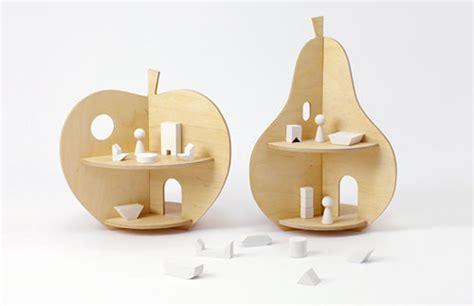 piccole in legno piccole in legno per bambini a forma di mela e pera