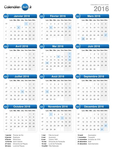 Calendrier 2016 Belge Calendrier 2016