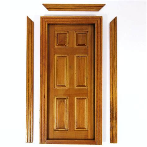 interior house door interior dolls house door walnut finish doors and windows bc02w from bromley craft