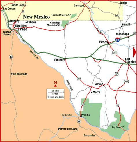 south west texas map map of southwest texas my