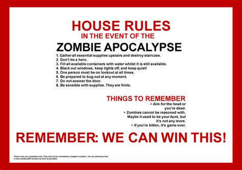 home design basic rules how i plan to survive the zombie outbreak the basics by