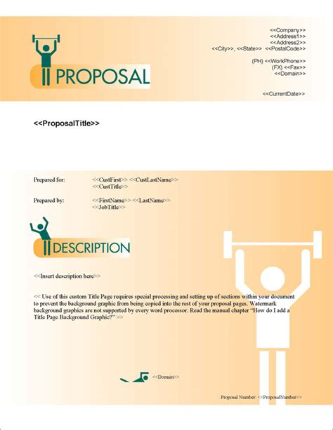 design proposal title proposal pack sports 4 software templates sles