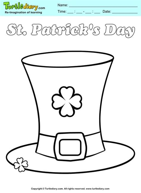 leprechaun hat template printable o brian coloring sheets and coloring on