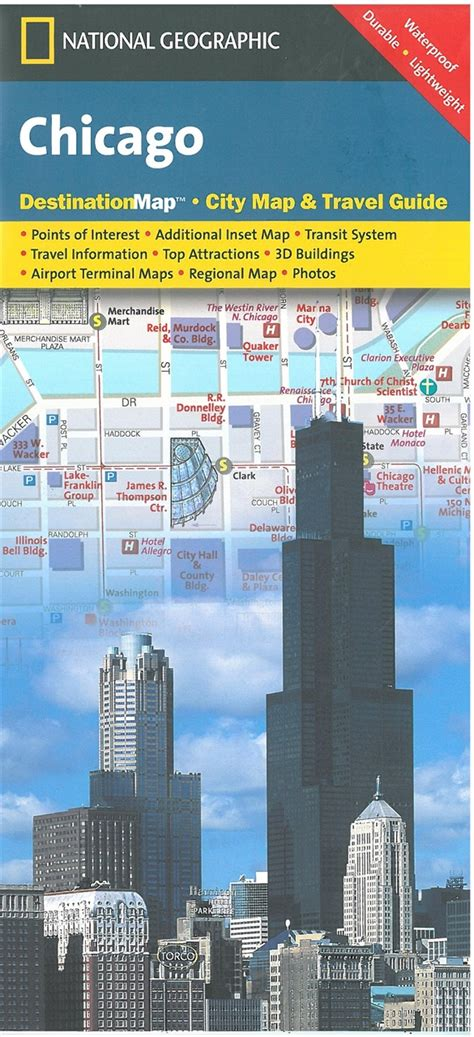 themapstore national geographic chicago destination map