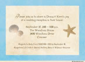 seashore wedding reception invitation seashells starfish photos