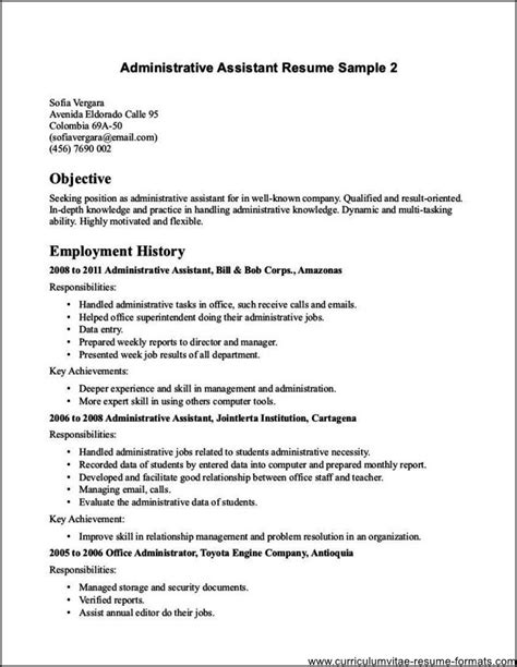Resume Sles For Experienced Office Assistant School Office Assistant Resume Free Sles Exles Format Resume Curruculum Vitae