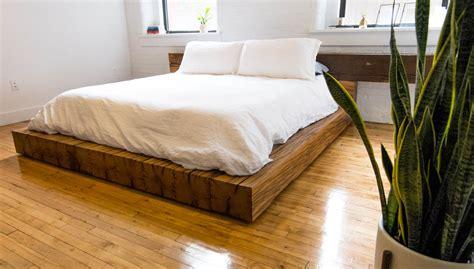 oak beam bed