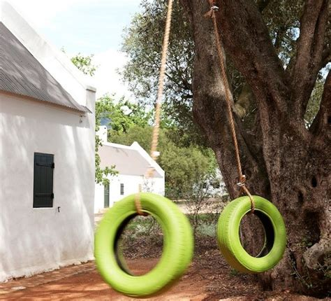 painted tire swing diy lime green painted tire swing gardenista consider