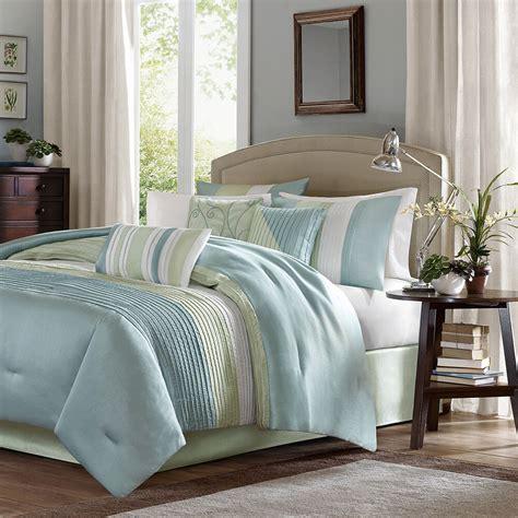 Modern Sets by Beautiful 7pc Modern Light Blue White Green