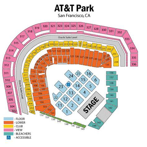 best seats att park att park seating chart at t park san francisco tickets