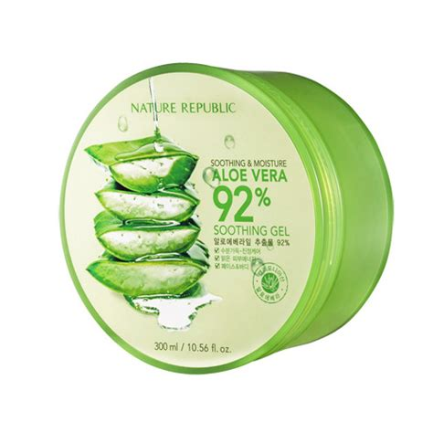 Nature Republic Aloe Vera 300 nature republic aloe vera soothing gel 92 soothing and
