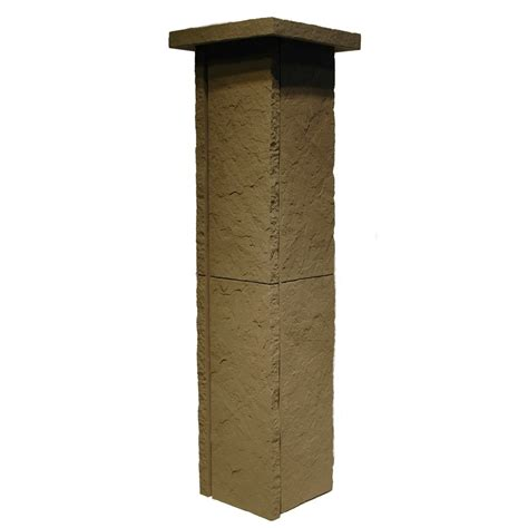 Column Kit Shop Nextstone 4 Pack 6 5 In X 36 In Gray Sandstone Column