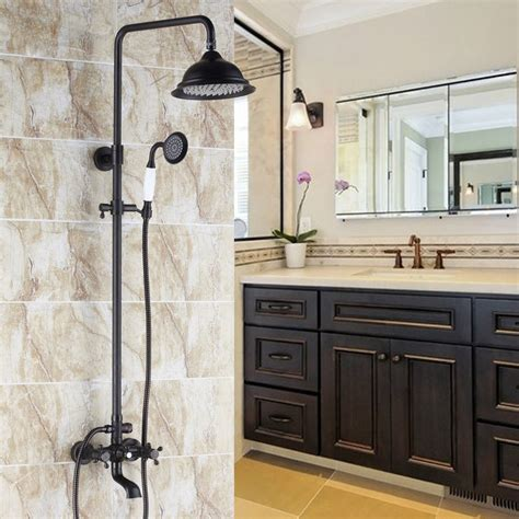 chester antique black classic exposed shower set
