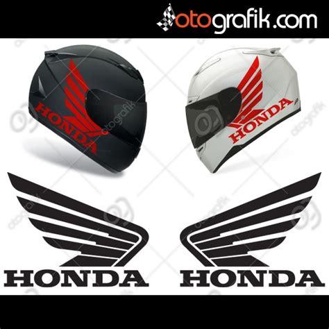 honda kanatli logo motosiklet sticker set otografik