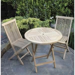 Garden Chair Set Teak Folding Bistro Set The Garden Factory