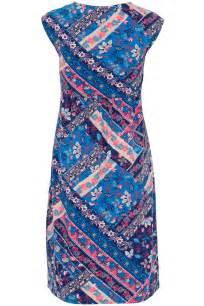 Patchwork Dresses - patchwork print cotton dress