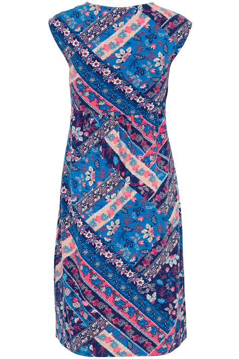Patchwork Dresses - patchwork print cotton dress