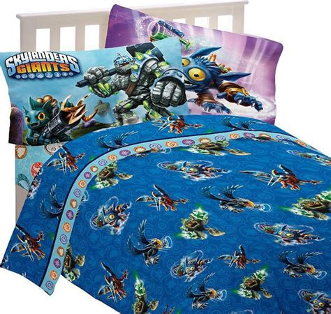 skylander bedroom skylanders full bed sheet set energy conquers bedding