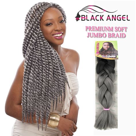 grey hair braid extensions free shipping 10packs lot ombre grey color jumbo braid
