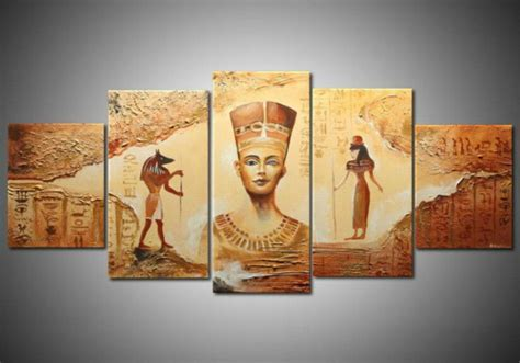 ancient egyptian home decor unframed ancient egyptian abstract art canvas painting