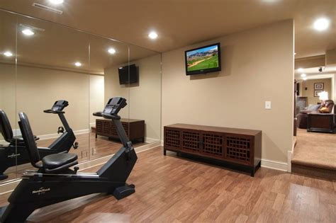 Home Fitness Rooms Fitness Room Traditional Home Minneapolis By