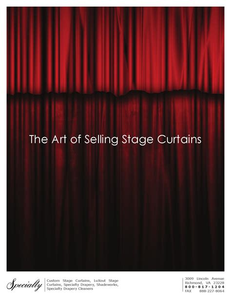 luxout stage curtains the art of selling stage curtains by the specialty group