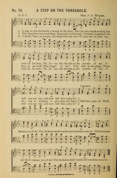Knock At The Door Song by A Step On The Threshold A Knock At The Door Hymnary Org