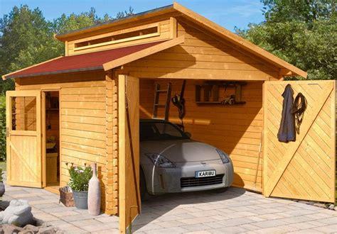 garagen doppelflügeltor karibu set einzel garage 187 blockbohlen 171 natur bxt