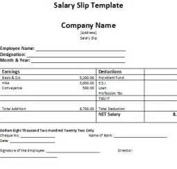 Free Salary Slip Template by Salary Slip Template