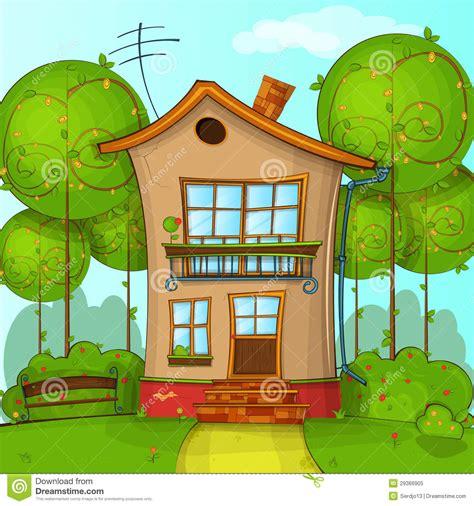 vector for free use cartoon house cartoon house stock vector illustration of house blue