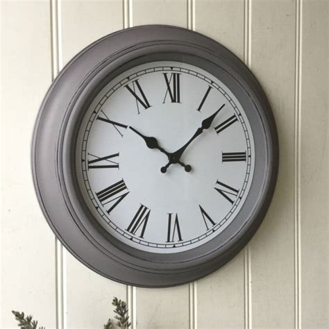 large shabby chic wall clocks shabby chic large grey wall clock amazing grace