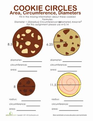 Circumference And Area Of A Circle Worksheet by Area And Circumference Of A Circle Worksheet Education