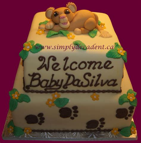 Simba Baby Shower by Simba King Baby Shower Cake Cakecentral