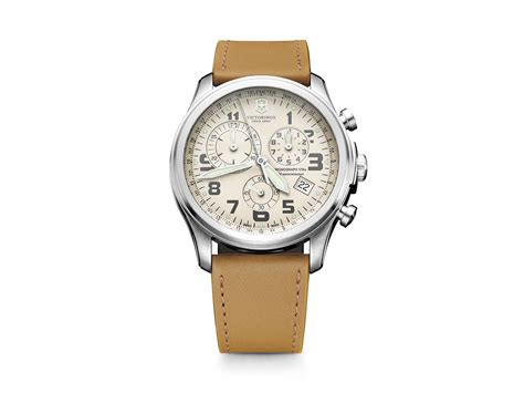 Swiss Army Infantry Light Brown victorinox swiss army infantry vintage chronograph