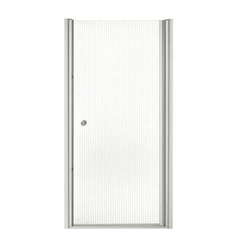 34 Inch Frameless Shower Door Kohler Fluence 34 Inches X 65 1 2 Inches Frameless Pivot Shower Door With Falling Lines Glass