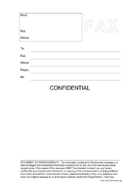 confidential cover letter fax cover sheet for microsoft office cover letter sle