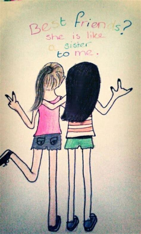cute drawings of friendship best friend heart drawings hipster pics for gt best friend heart drawings