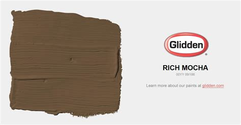 rich mocha paint color glidden paint colors